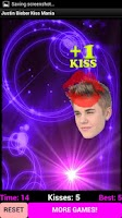 Screenshot of Justin Bieber Kissing Frenzy