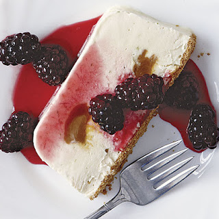 Frozen Lime and Dulce de Leche Terrine with Blackberry Sauce