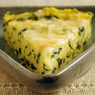 Polenta with Fontina and Spinach