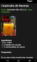 Screenshot of Recetas de Tragos
