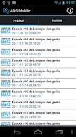 Screenshot of Analyse des Geeks Mobile