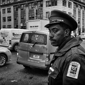 Dispatch by Alan Roseman - Black & White Street & Candid ( st. patty, lumix, street, city life, nyc, new york city, st. patrick,  )