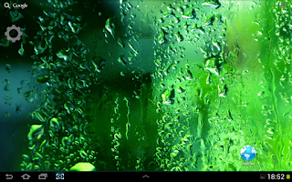 Screenshot of Green Rain Droplets LWP