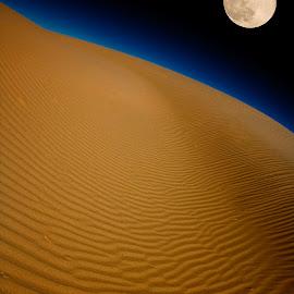 Moon over Glamis by Patrick Flood - Landscapes Starscapes ( canon, photosbyflood, moon, sand dunes, california, el centro, glamis )