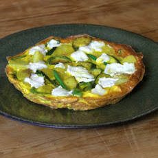 Potato, Green Bean And Goat's Cheese Frittata