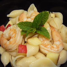 Pasta, Prawn(Shrimp), Apple Salad- Mayo Free!
