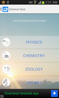 Screenshot of Science Quiz