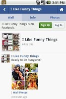 Screenshot of Like Funny Things On Facebook