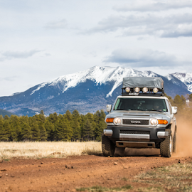 Beyond Mountains by Preston Trauscht - Transportation Automobiles ( fj curiser, flagstaff, snowbowl, offroad, fourwheeling, arizona, toyota )