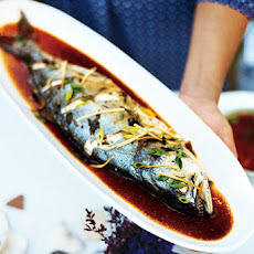 Steamed Fish with Scallions and Ginger