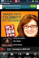 Screenshot of 95.7 BEN-FM