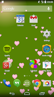 Screenshot of Simple Hearts Live Wallpaper