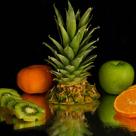 fruits by Berrin Aydın - Food & Drink Fruits & Vegetables ( kiwi, apple, tangerine, ananas,  )