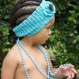 Blue beaded girl ...  by Desiree Havenga - Babies & Children Children Candids