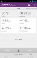 Screenshot of Runtastic Pedometer PRO