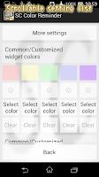 Screenshot of SC Color Reminder widget note