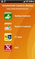 Screenshot of VeryAndroid Contacts Backup