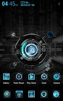 Screenshot of Black mechanic Atom Theme