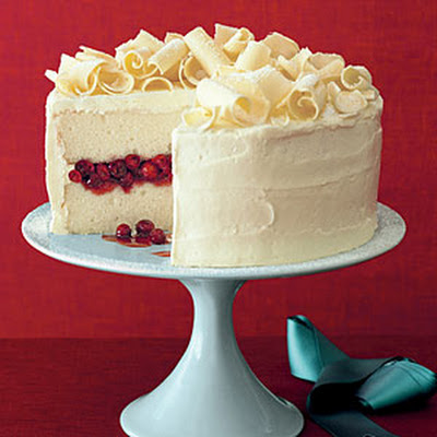 Cranberry Obsession Snow Cake