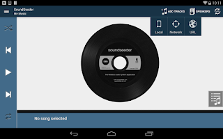 Screenshot of SoundSeeder Music Player