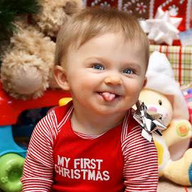 My First Christmas by Luanne Bullard Everden - Babies & Children Children Candids ( babies, candids, christmas, holidays, children, toddlers )