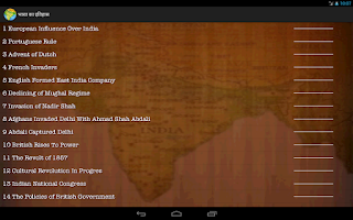 Screenshot of History Of India