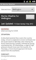 Screenshot of NZ Marine Weather