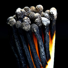 by Dipali S - Artistic Objects Other Objects ( artistic, sticks, object, match, burn't )