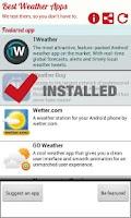 Screenshot of Best New Weather Apps