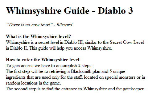 Whimsyshire Guide