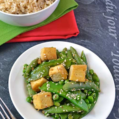 Three Pea Ginger Tofu Stir Fry