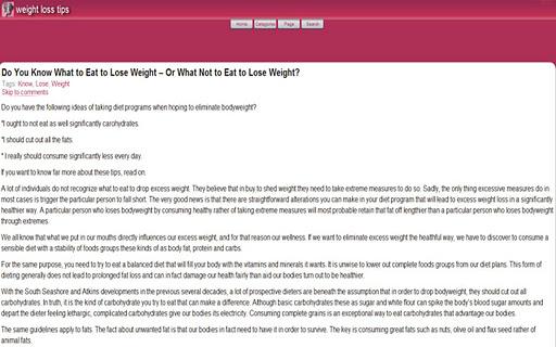【免費健康App】Weight Loss Tips-APP點子