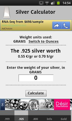 玩財經App|Silver Price Calculator Live免費|APP試玩