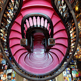 Lello & Brother Bookshop by Antonio Amen - Buildings & Architecture Architectural Detail ( books, stairs, bookshop, lello & brother, steps, portugal, porto )
