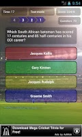 Screenshot of Mega Cricket Trivia