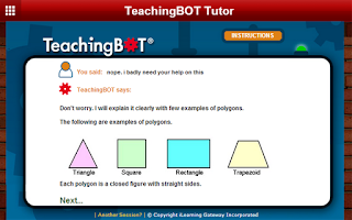 Screenshot of TeachingBOT Math Tutor