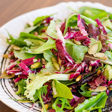 Lemony Green Salad with Radicchio & Pepitas