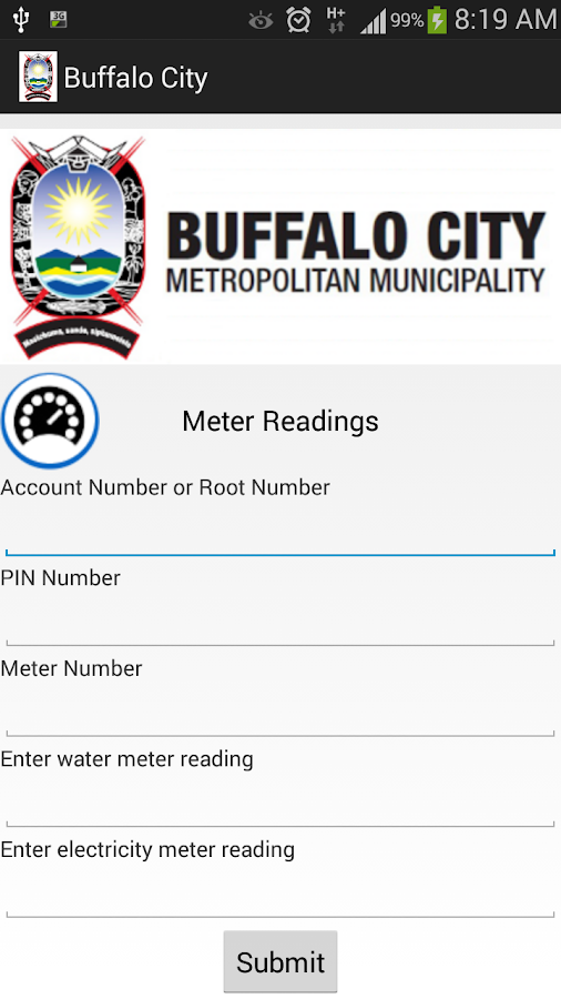 BCMM Mobile Municipal App Screenshot 2