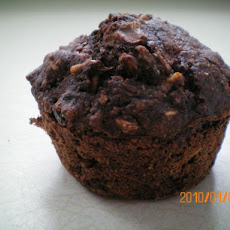 Low Fat Chocolate Oatmeal Muffins