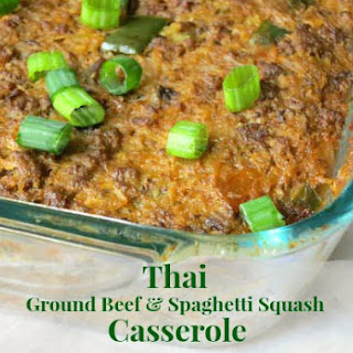 Thai Ground Beef & Spaghetti Squash Casserole