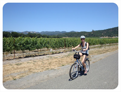 biking to wineries in napa