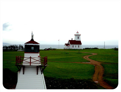 lighthouse at pei ferry terminal