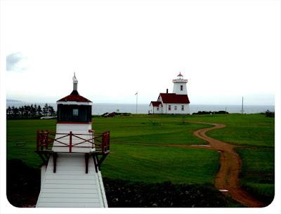 lighthouse at pei ferry terminal