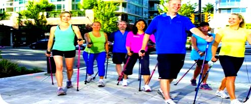 nordic walking while travelling
