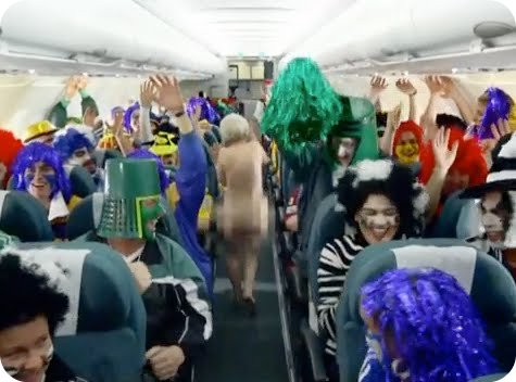 Air New Zealand Safety Videos - streaking grandma