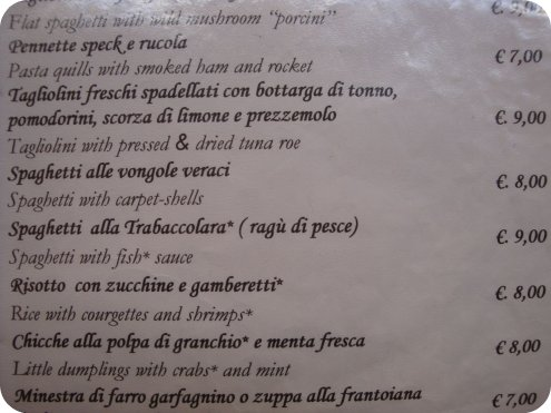 lucca food menu