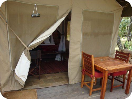 tent at mara safari club
