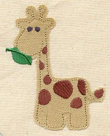 Giraffe with Leaf Applique
