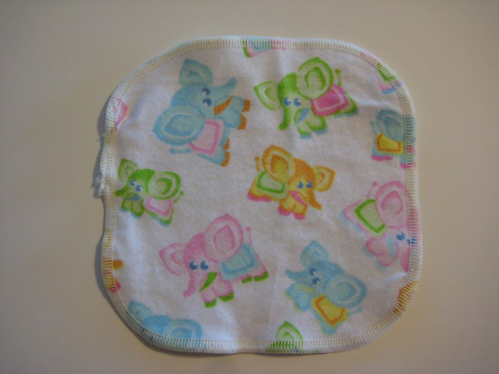 Elephant Flannel Wipes