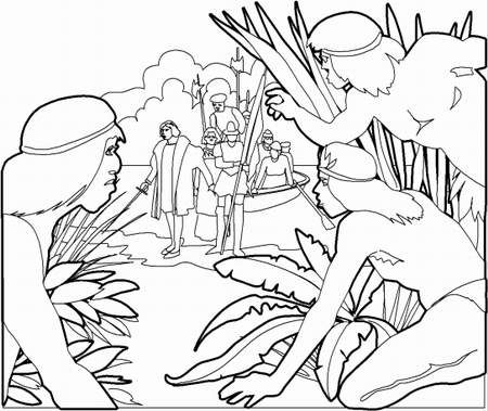Dibujo sobre la resistencia indigena - Imagui